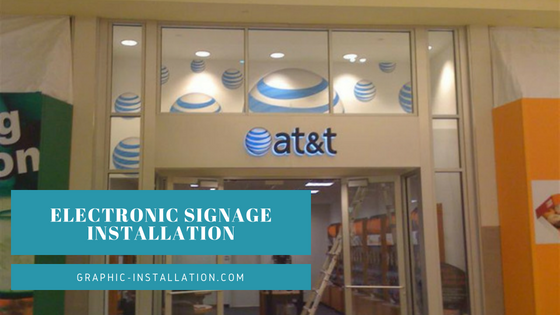 Electronic Signage Installation Nationwide Services