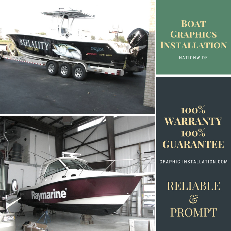 Boat Graphics Installation Services by Graphic Installation Experts