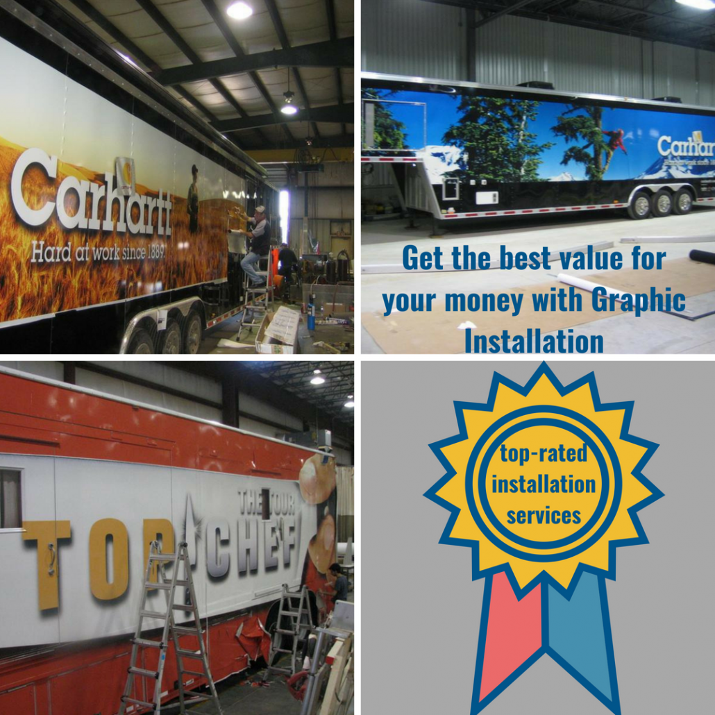 Trailer Graphics Nationwide Installation Services by Graphic Installation