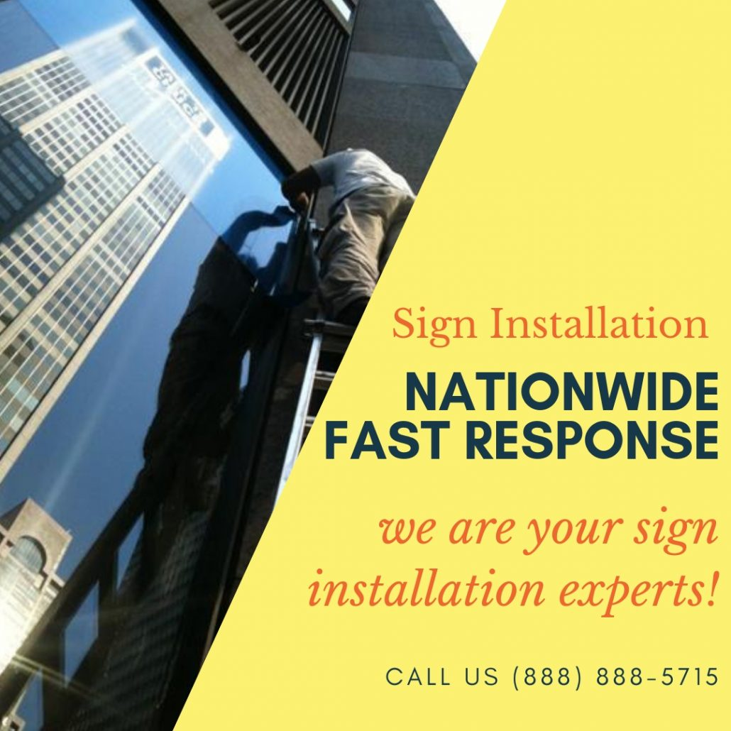 It's Time to Install Your Signs. Call Graphic Installation today!