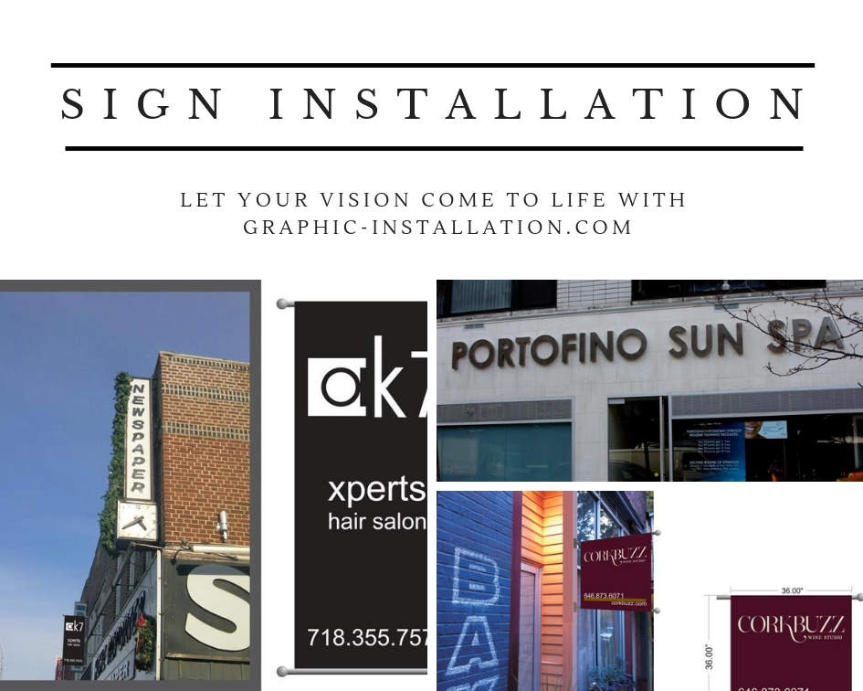 Nationwide Sign Installation Service by Graphic Installation Professionals