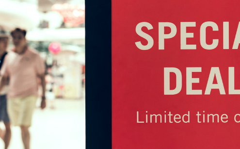 Retail sale signs and banners
